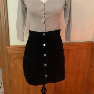 Dresses & Skirts - Black corduroy mini skirt